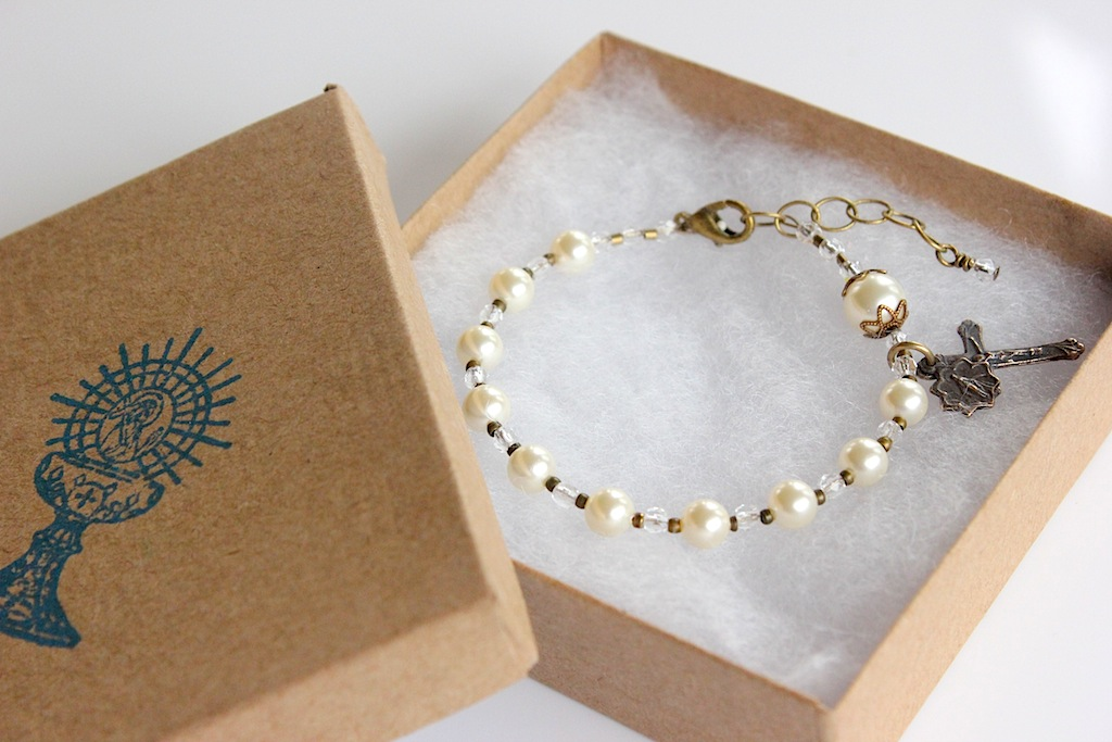 how to make a rosary bead bracelet
