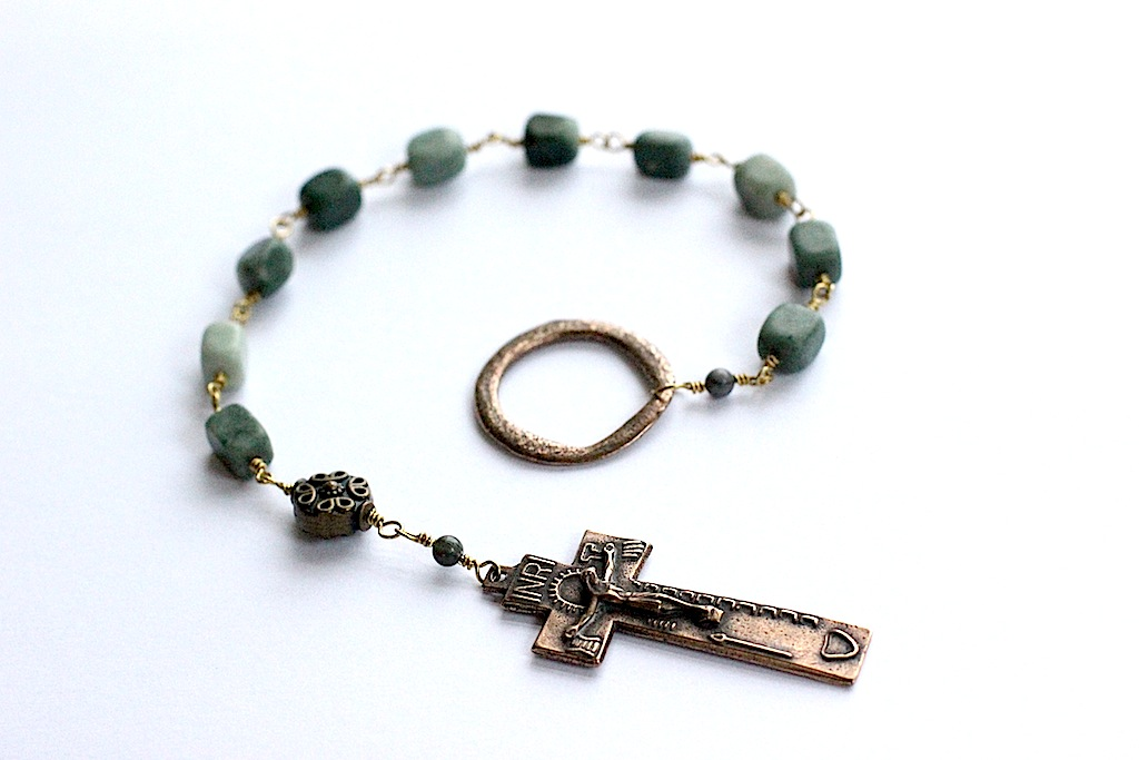 Irish Penal Bronze Wire Wrapped Rosary- 2 available
